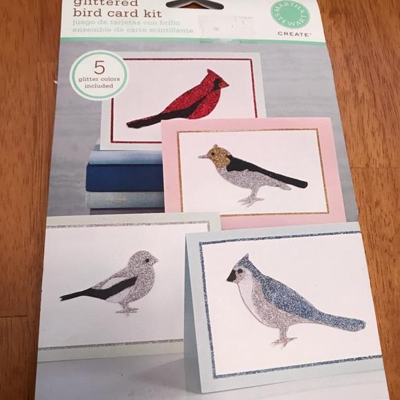 Martha Stewart Other - Martha Stewart Glittered Bird Card Kit